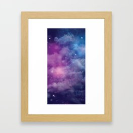 Pink and Blue Nebula Framed Art Print