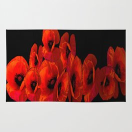 ELEVEN RED POPPIES Rug