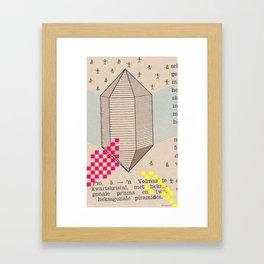 Fig 5. Primary Prism Banana Framed Art Print