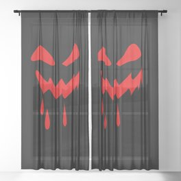 Halloween laughs Sheer Curtain