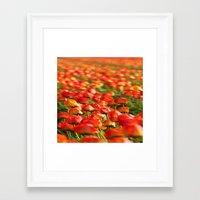 duvet cover Framed Art Prints featuring Duvet Cover 406D by Michael Mackin