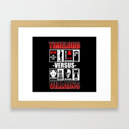 Timelord versus Villains Framed Art Print