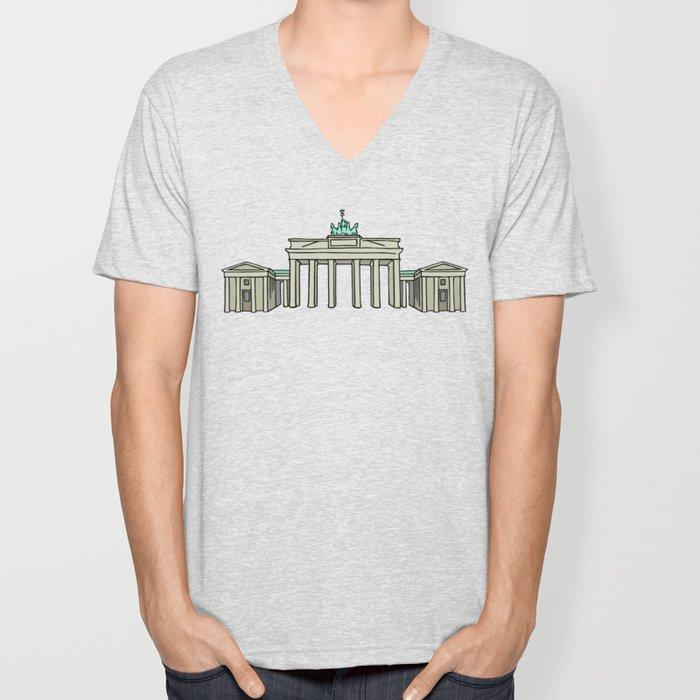 Brandenburg Gate in Berlin Unisex V-Neck