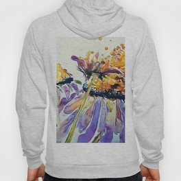 Poppin Purple Echinacea watercolor by CheyAnne Sexton Hoody