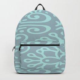 Aqua On Blue Boho Design Backpack