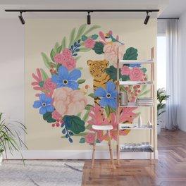 Botanical Tiger Wall Mural