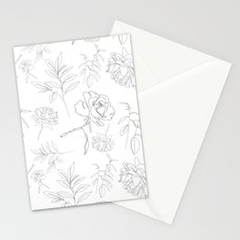 Lined Florals Stationery Cards