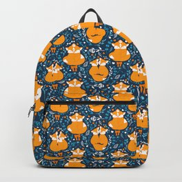 Foxes in love - Blue Backpack