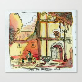 Templo San Francisco Canvas Print