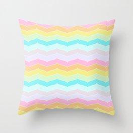Pastel Stripes Throw Pillow