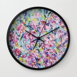 Abstract floral painting 2 Wall Clock