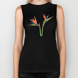 Bird of paradise flowers Biker Tank