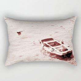 Monochrome Beach Days Boat Rectangular Pillow