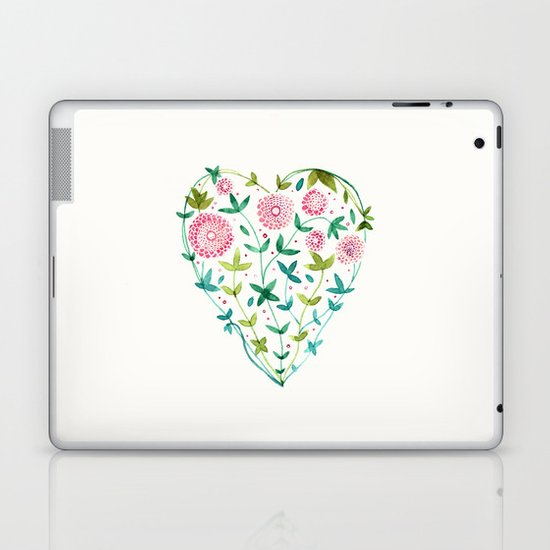garden heart Laptop & iPad Skin