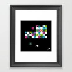 Something Other 2 On Black Framed Art Print