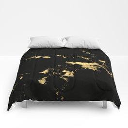 Black Marble #5 #decor #art #society6 Comforters