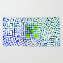 artisan 22.06.16 in lime & shades of blue Beach Towel