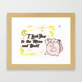 Clefairy Valentine Framed Art Print