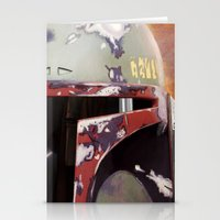 boba fett Stationery Cards featuring Boba Fett by Mel Hampson