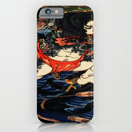 The Tattooed Samurai Traditional Japanese Character iPhone Case