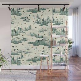 A Marsh Study - Firefly Seamless Pattern Wall Mural