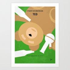 No519 My TED minimal movie poster Art Print
