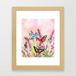 Wild meadow butterflies Framed Art Print