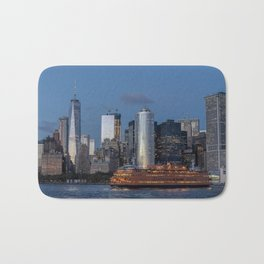 NYC and Staten Island Ferry Bath Mat