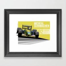 Michael Schumacher - 1992 Spa Framed Art Print