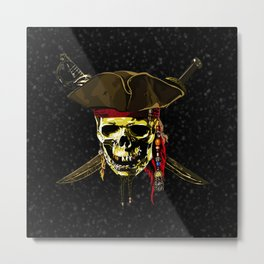 Style Skull Pirates Metal Print