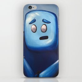 Hugh in Blue iPhone Skin