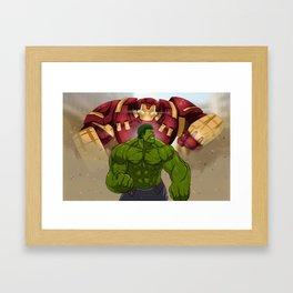 Hulk vs. Hulkbuster Framed Art Print