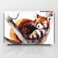 red panda iPad Cases featuring Red Panda by Anna Shell