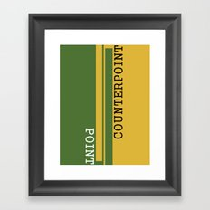 Weekend Update: Point Counterpoint Framed Art Print