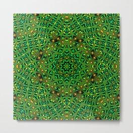 Orange Yellow and Green Kaldeidoscope 4 Metal Print