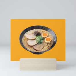 Japanese Tonkotsu Ramen Polygon Art Mini Art Print