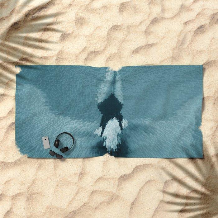 Swimming girl 2 Beach Towel