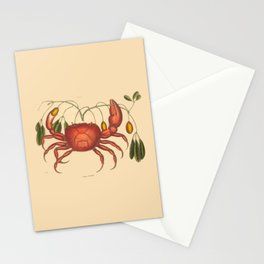 Vintage Crab with Seaweed Stationery Cards