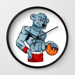 rat basketball mascot. Wall Clock