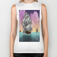 ships Biker Tanks featuring Rigged Ships by Yoly B. / Faythsrequiem