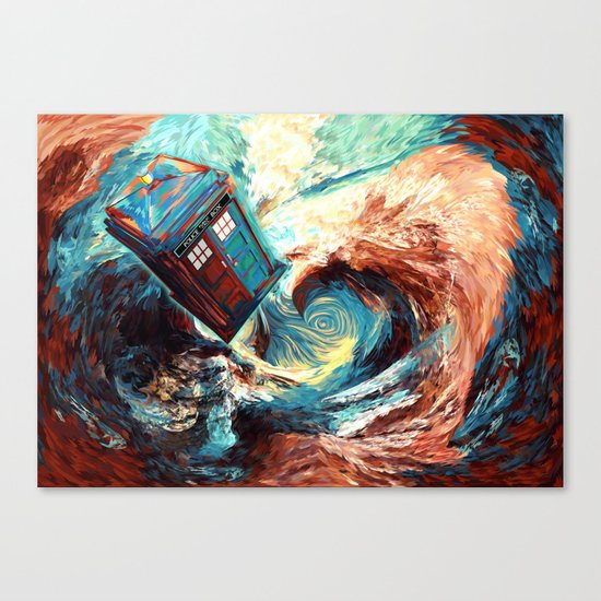 Tardis doctor who at starry night Dark Vortex iPhone 4 4s 5 5c 6, pillow case, mugs and tshirt Canvas Print