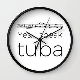 I speak tuba Wall Clock