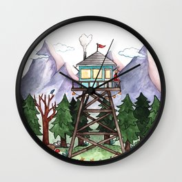 Mountain Lookout Wall Clock
