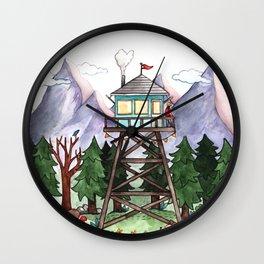 Mountain Lookout Wall Clock