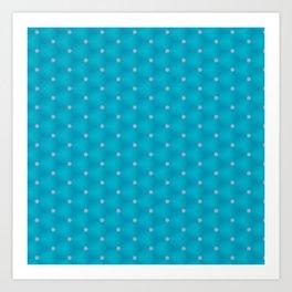 Bright Blue Poka Dot Design Art Print