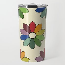 Flower pattern based on James Ward's Chromatic Circle Travel Mug
