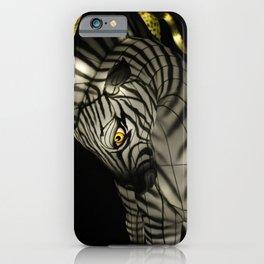Closeup of Zebra Christmas Decoration in Palm Desert iPhone Case
