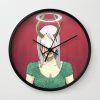 demon Wall Clocks featuring Demon by Jauma