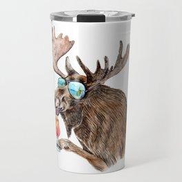 Moose on Vacation Travel Mug