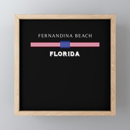 Fernandina Beach Florida Framed Mini Art Print